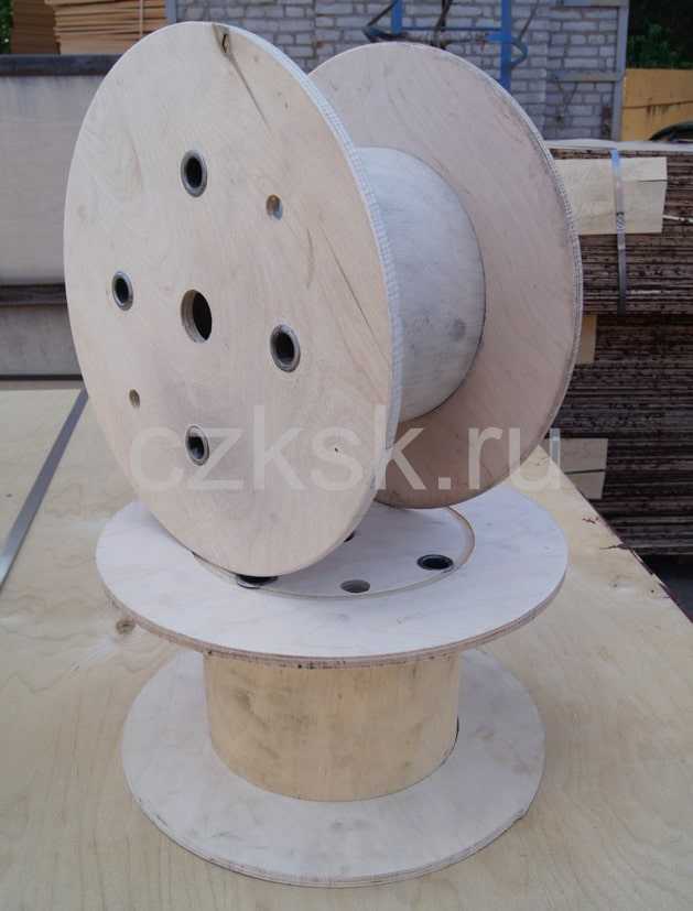 Размеры и вес деревянных барабанов